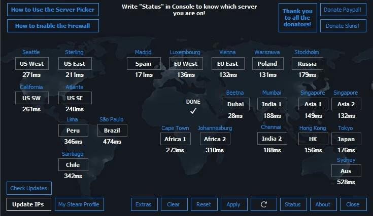 csgo server list