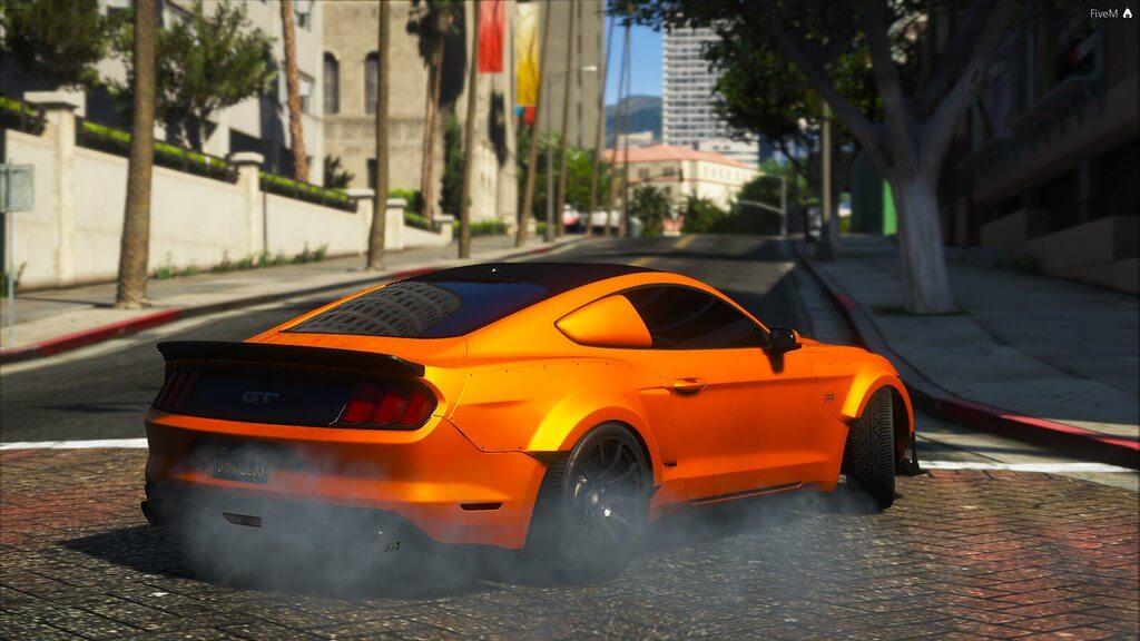 drifting supercar in FiveM RP