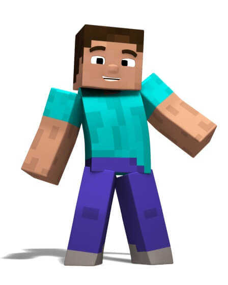 Minecraft player character